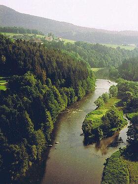 Blick über das Regental im Bayerischen Wald